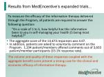 results from medencentive s expanded trials53