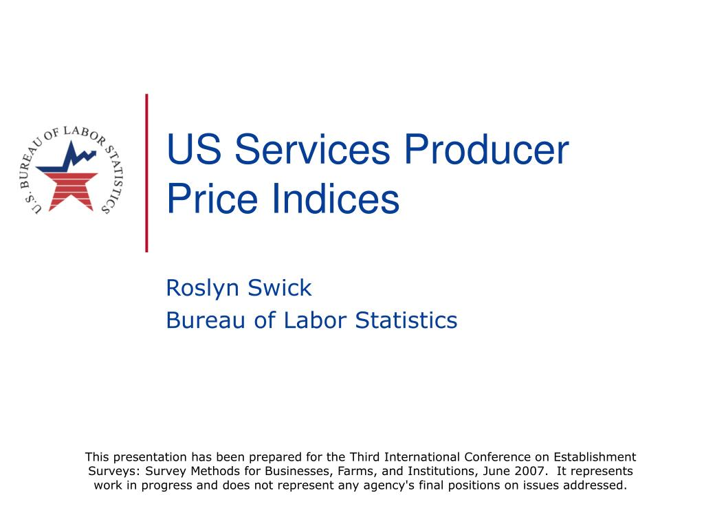us services producer price indices l.