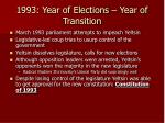 1993 year of elections year of transition