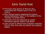 early tsarist rule