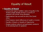 equality of result