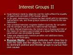 interest groups ii