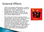 external effects