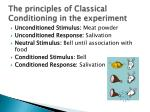 the principles of classical conditioning in the experiment