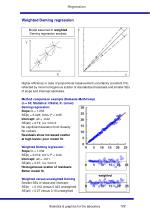 weighted deming regression