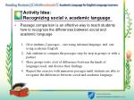 activity idea recognizing social v academic language