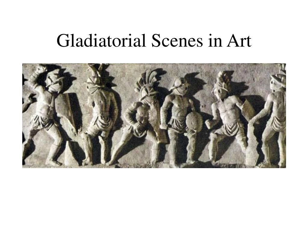 Gladiatorial Scenes in Art