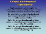 7 ensure environmental sustainability