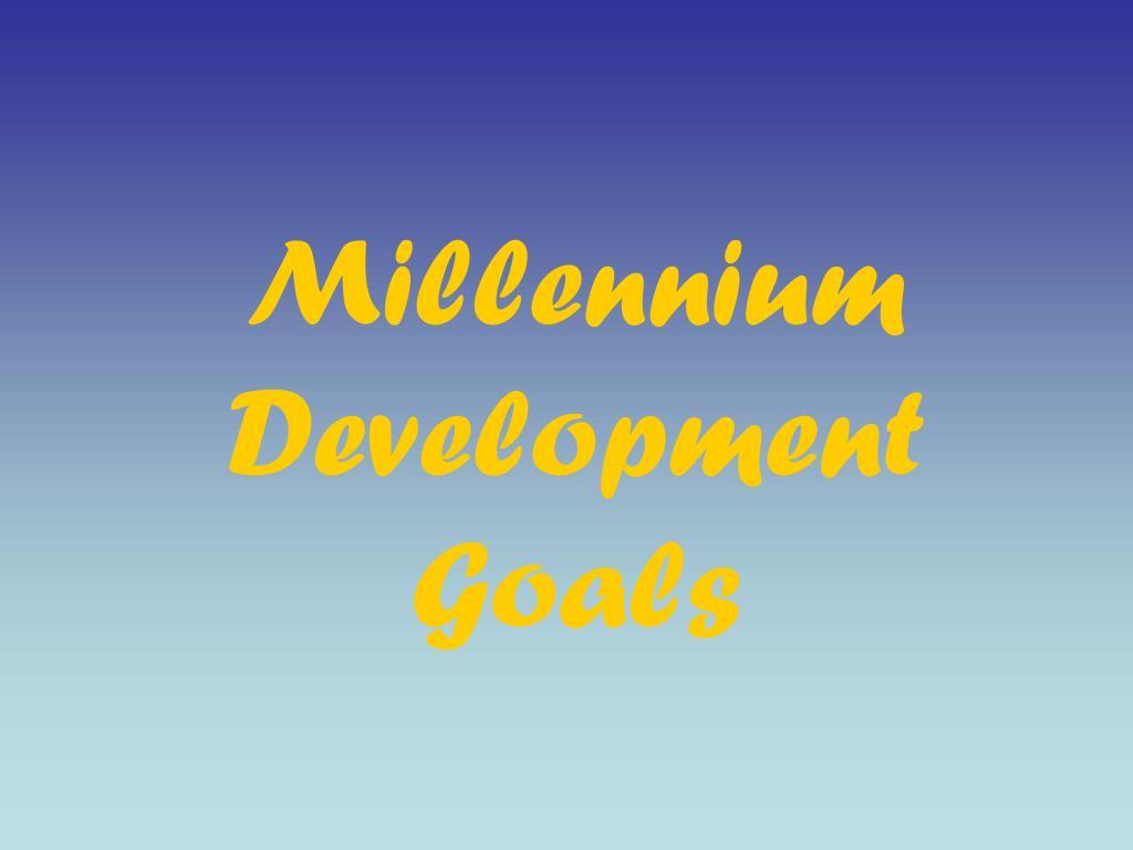 millennium development goals l.