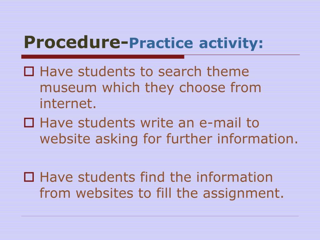 Procedure-
