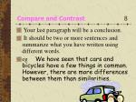 compare and contrast 8