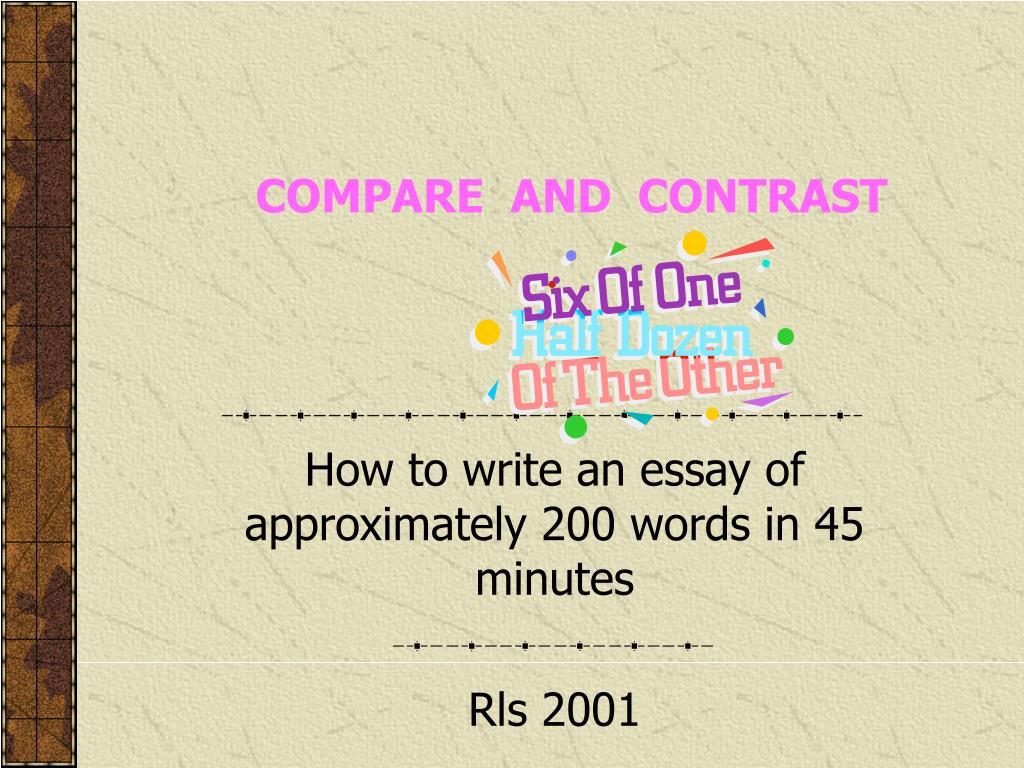 compare and contrast l.