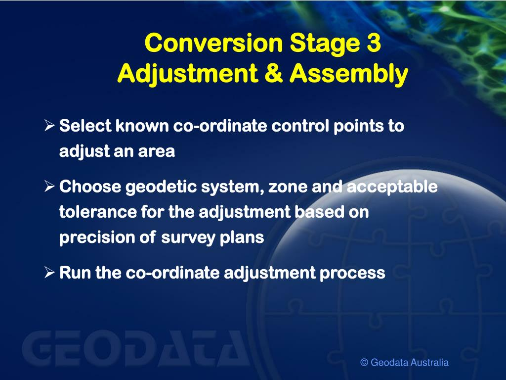 Conversion Stage 3