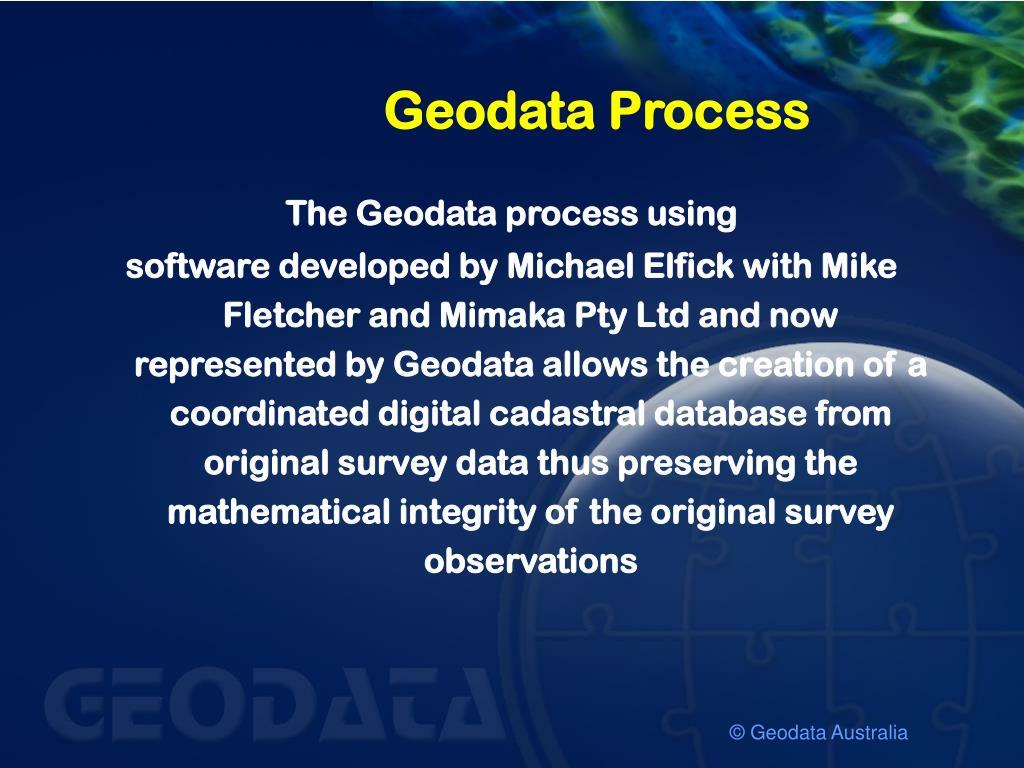 Geodata Process