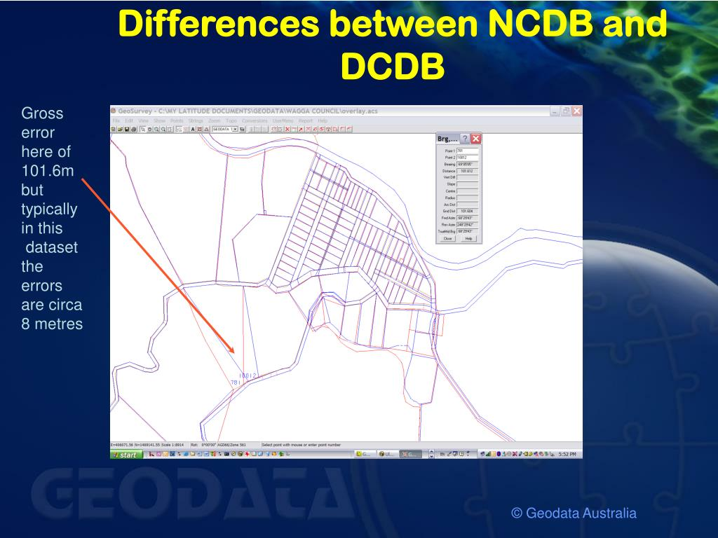Differences between NCDB and DCDB