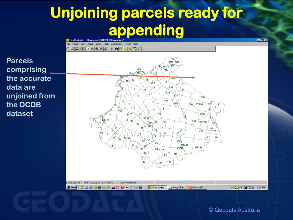 Unjoining parcels ready for appending