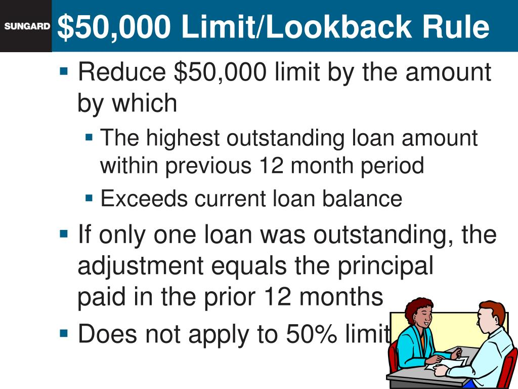 Reduce $50,000 limit by the amount by which