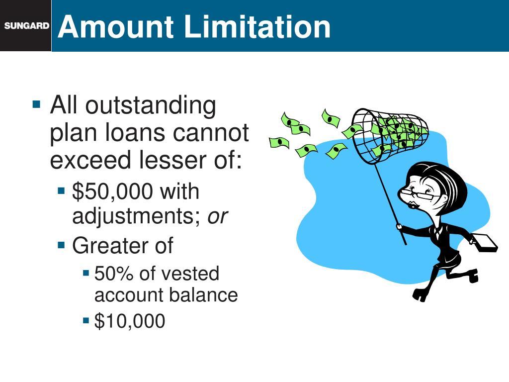 Amount Limitation