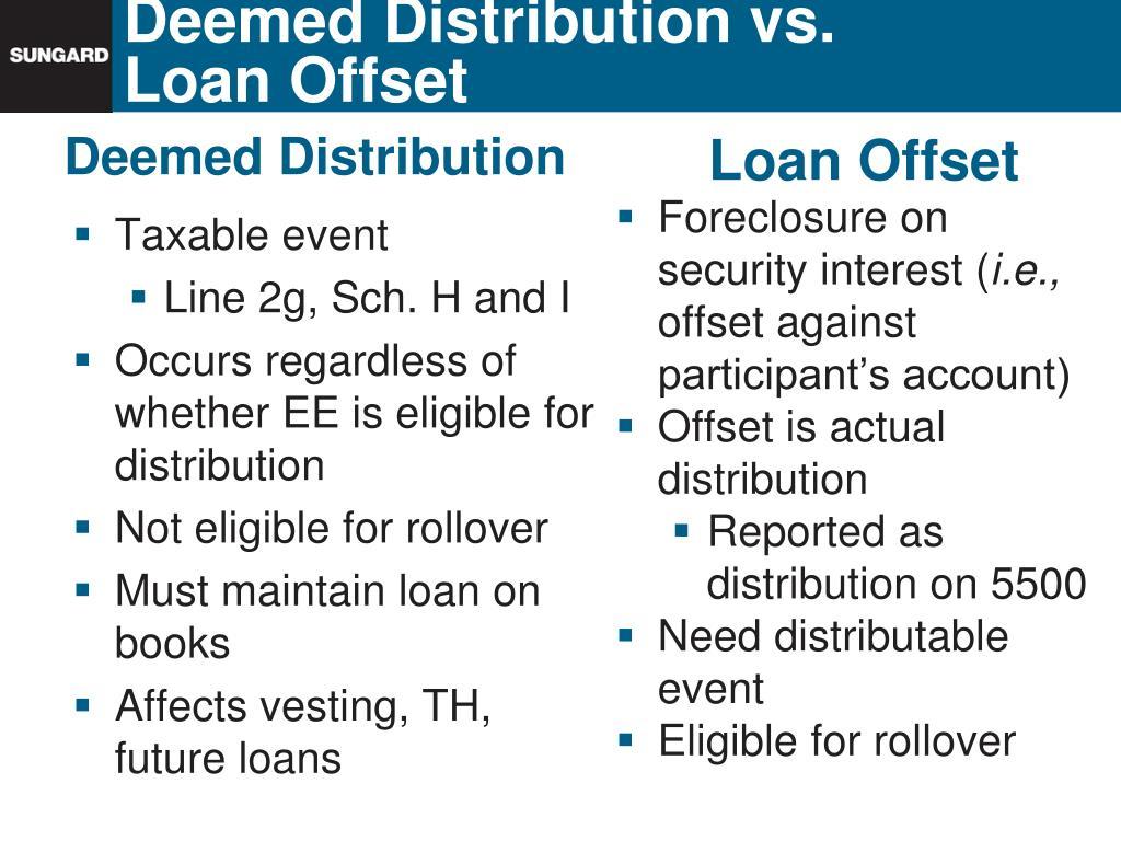 Deemed Distribution vs.