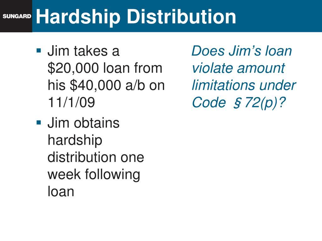 Hardship Distribution