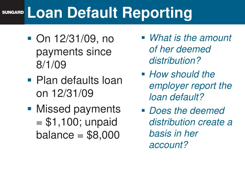 Loan Default Reporting