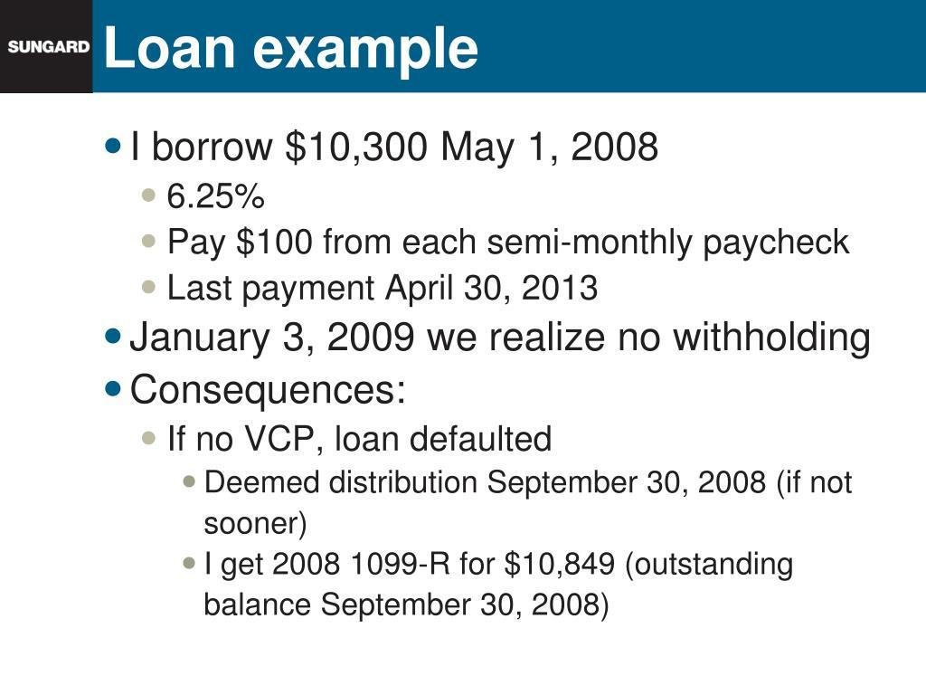 Loan example