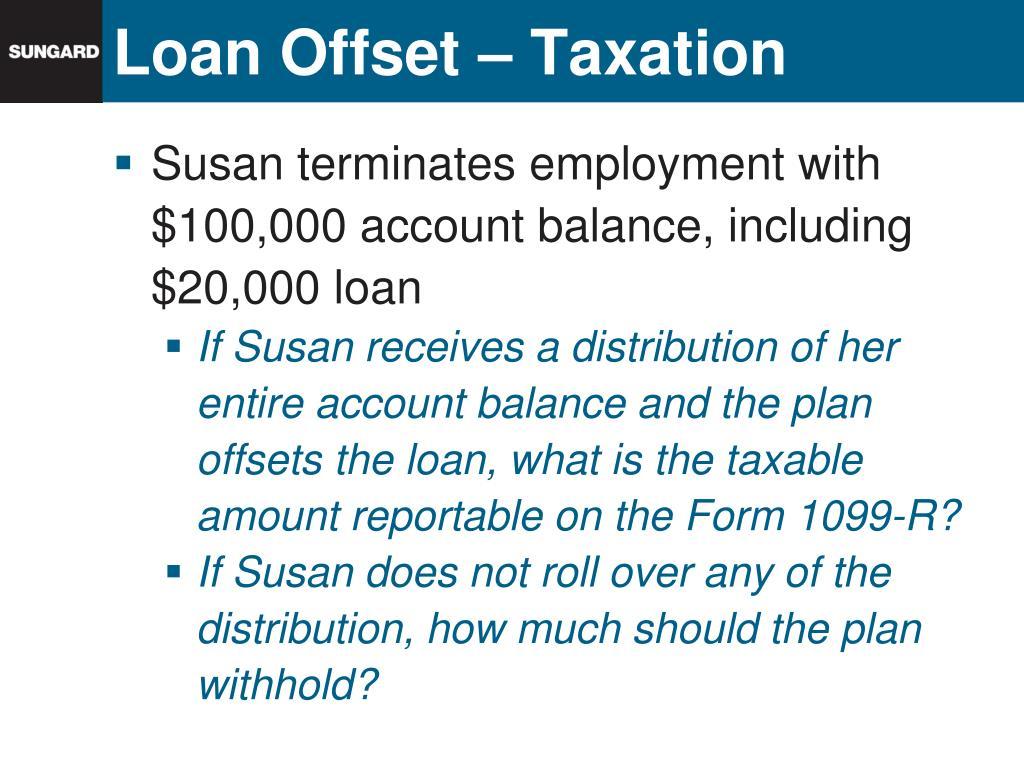 Loan Offset – Taxation