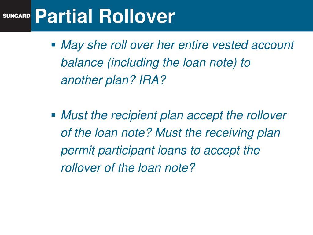 Partial Rollover