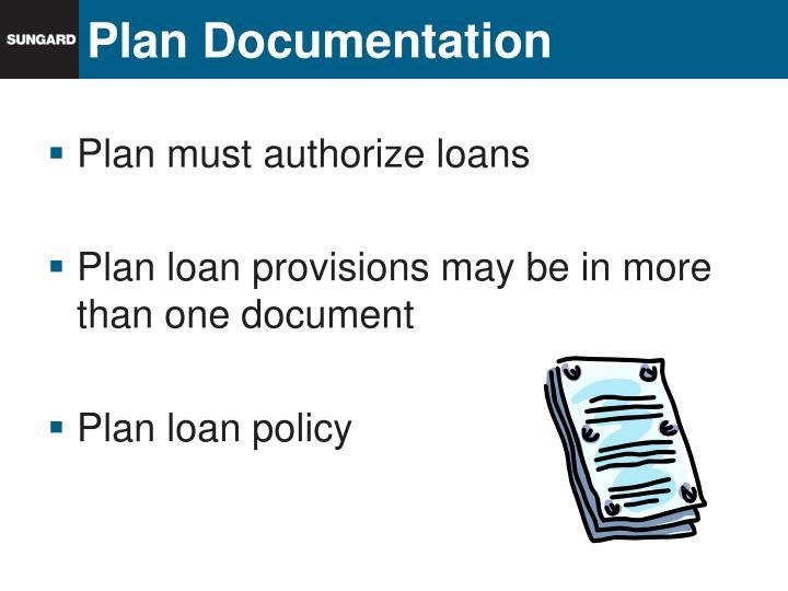 Plan documentation