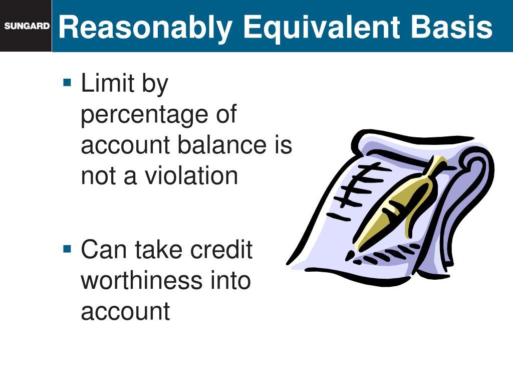 Reasonably Equivalent Basis