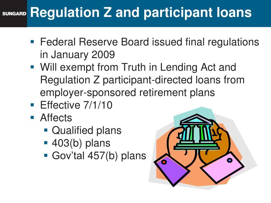 Regulation Z and participant loans