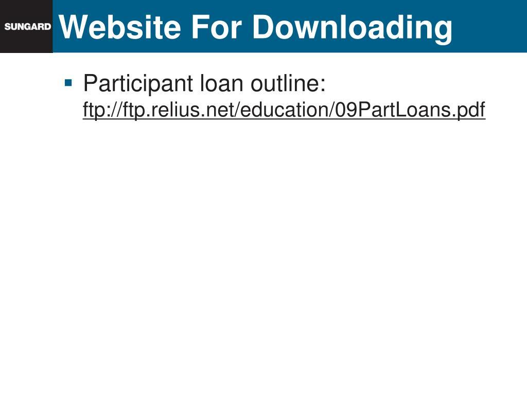 Website For Downloading