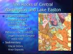 the rocks of central washington and lake easton