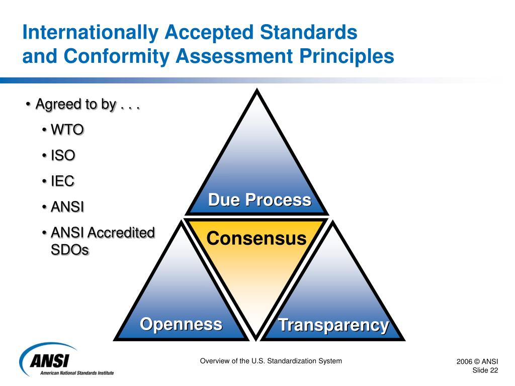 Internationally Accepted Standards