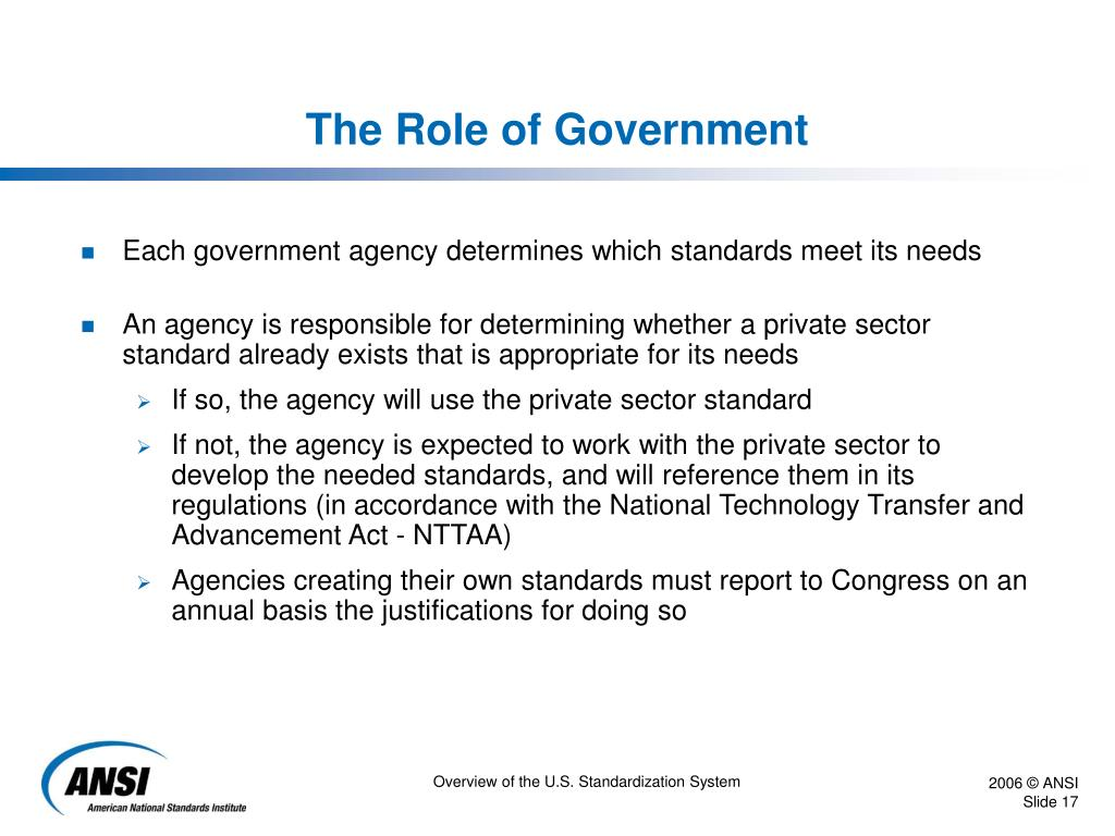The Role of Government