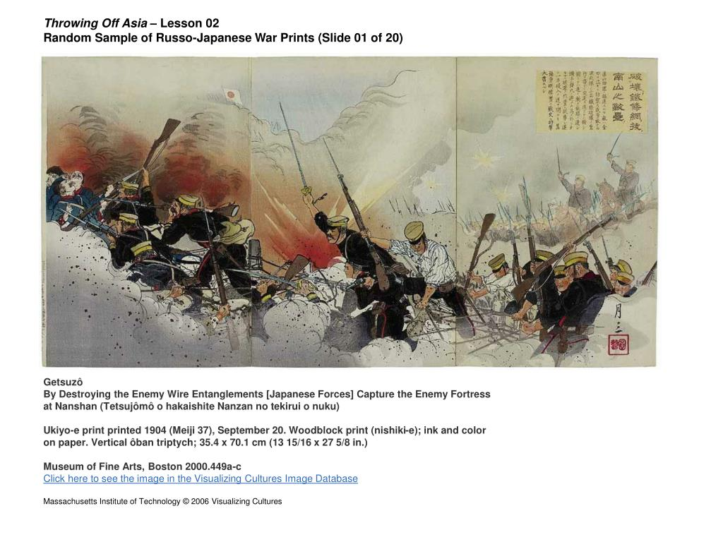 throwing off asia lesson 02 random sample of russo japanese war prints slide 01 of 20 l.