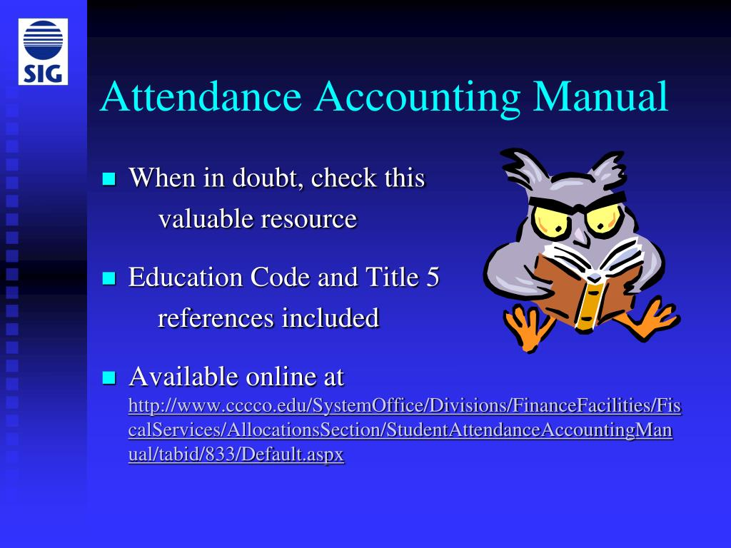 Attendance Accounting Manual