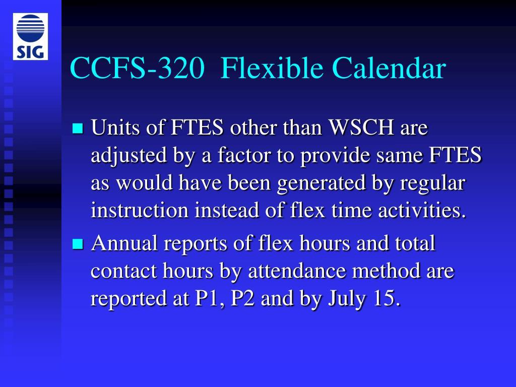 CCFS-320  Flexible Calendar