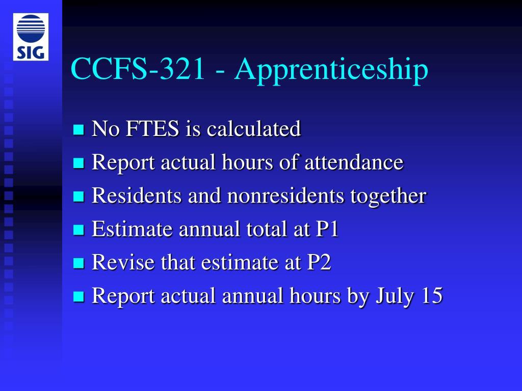 CCFS-321 - Apprenticeship