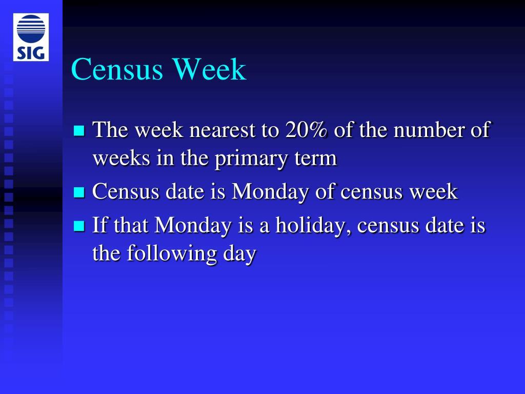 Census Week