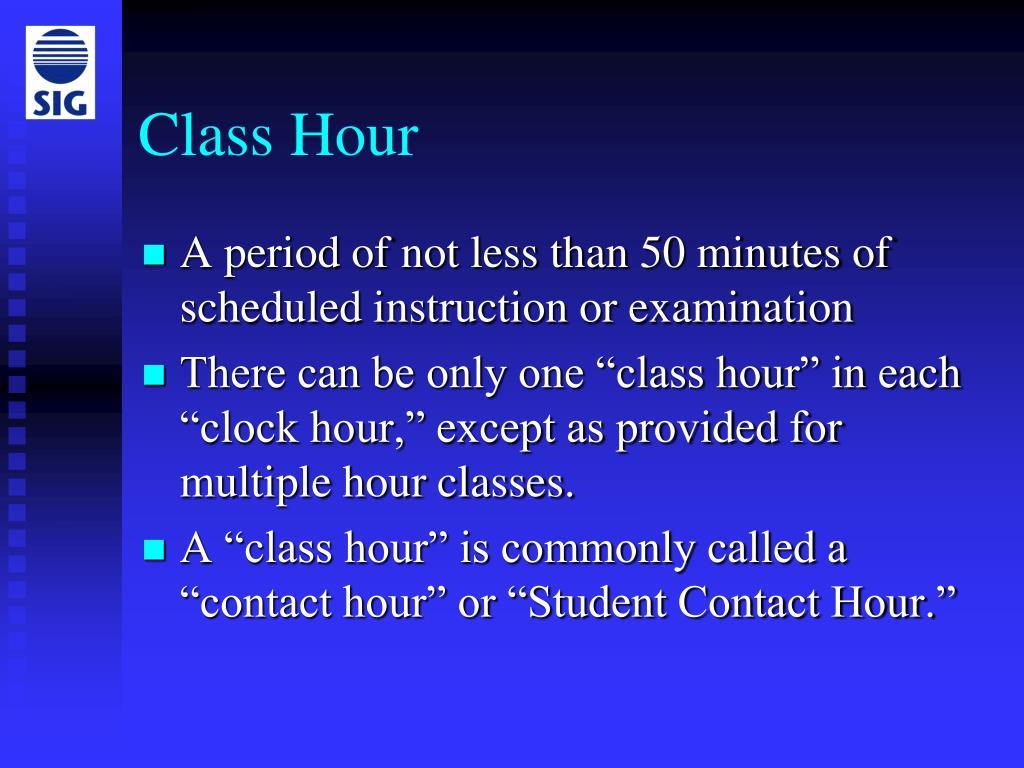 Class Hour