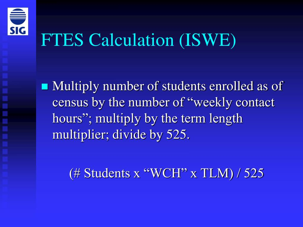 FTES Calculation (ISWE)