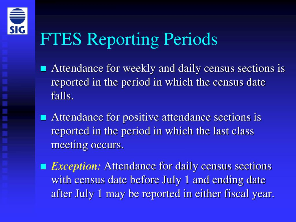 FTES Reporting Periods