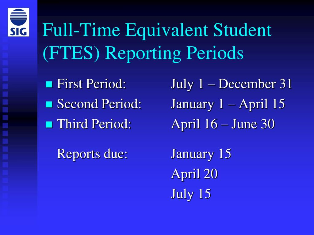 Full-Time Equivalent Student (FTES) Reporting Periods