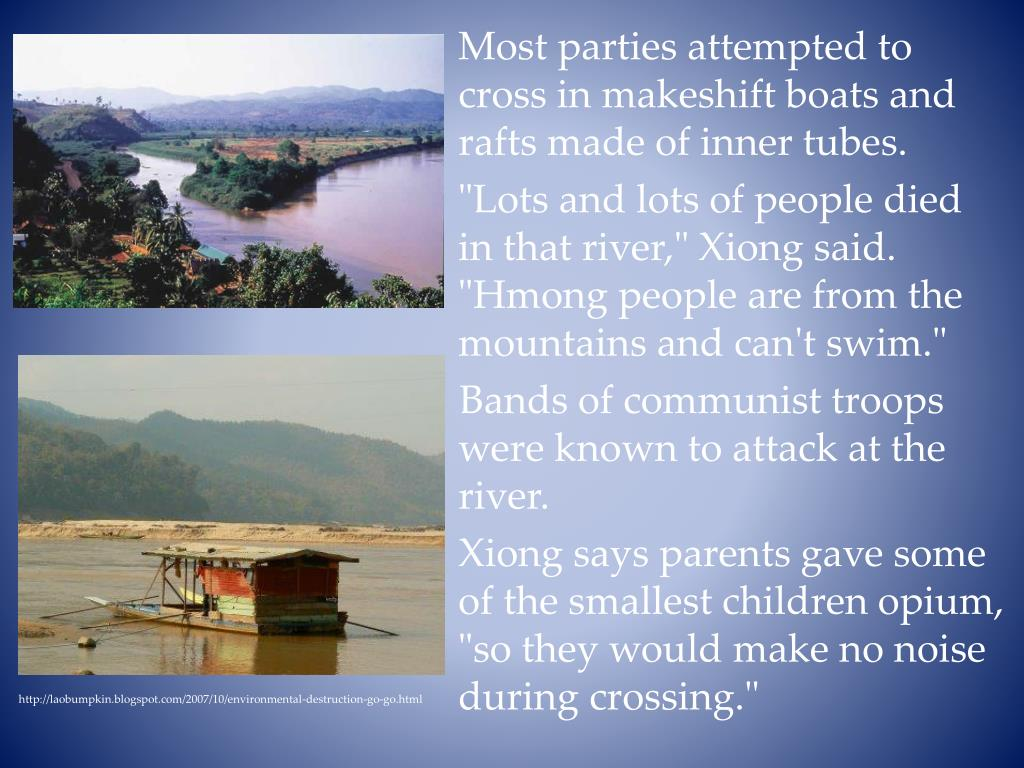Most parties attempted to cross in makeshift boats and rafts made of inner tubes.