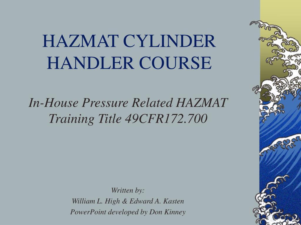 hazmat cylinder handler course l.
