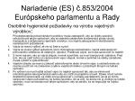 nariadenie es 853 2004 eur pskeho parlamentu a rady