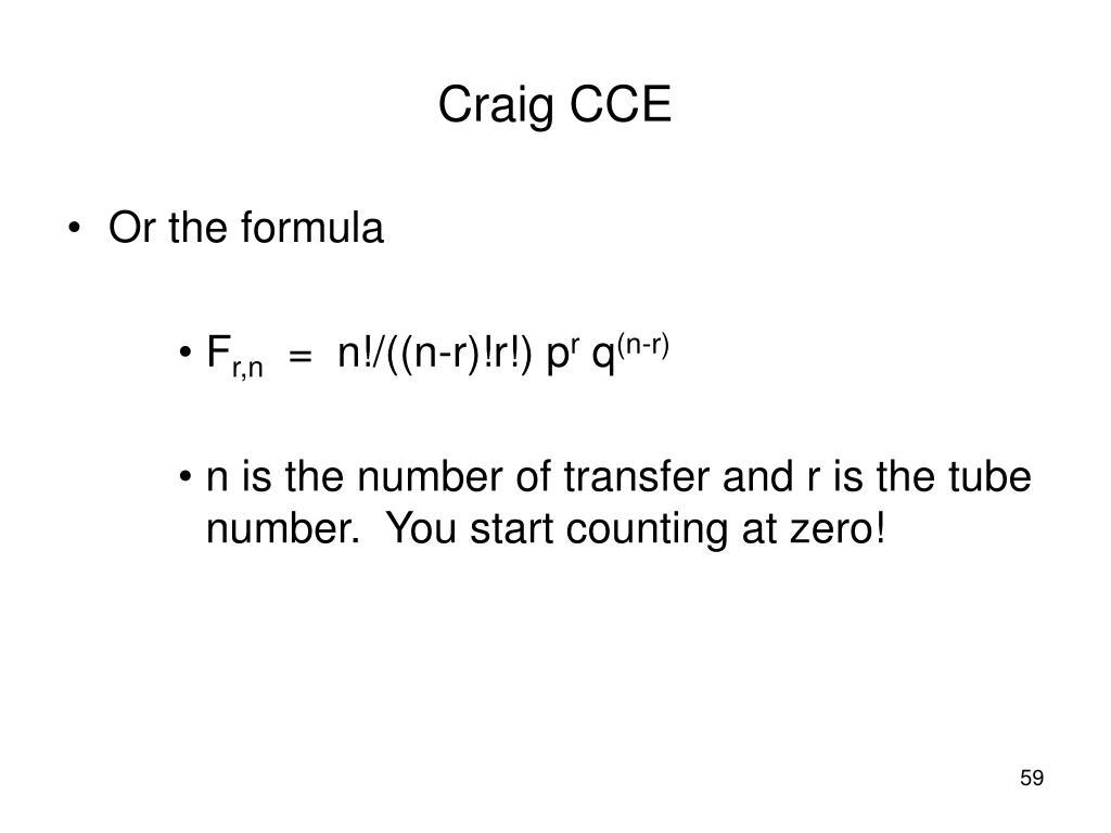 Or the formula