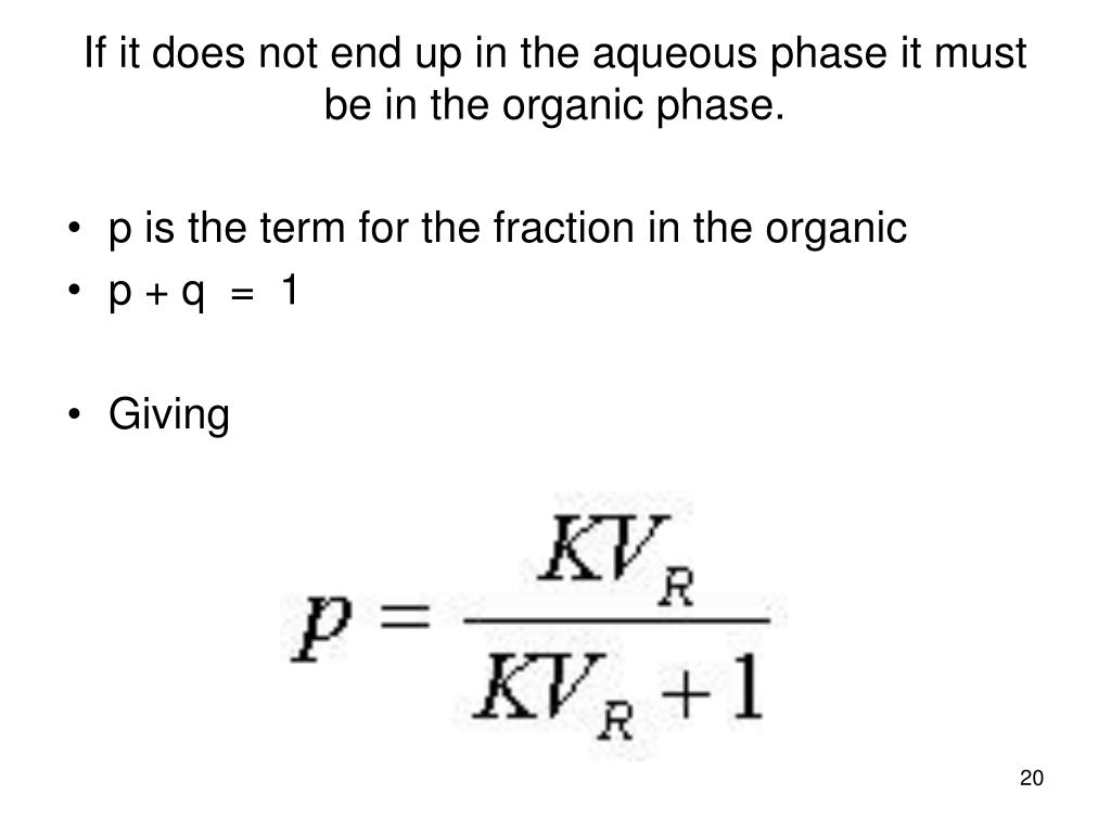 p is the term for the fraction in the organic