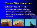 types of minor connectors4